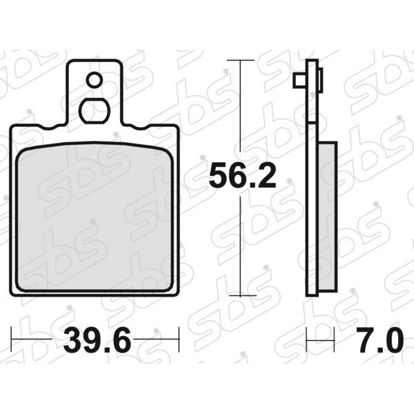 Plaquettes de frein 519 HF