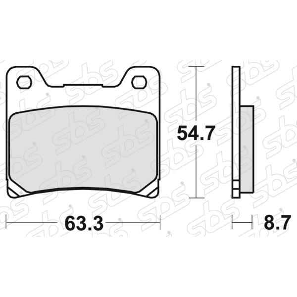Plaquettes de frein 555 HF