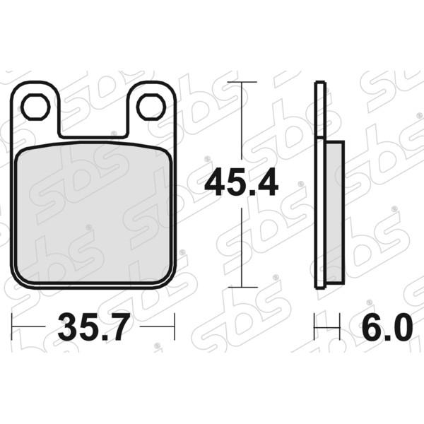 Plaquettes de frein 559 HF