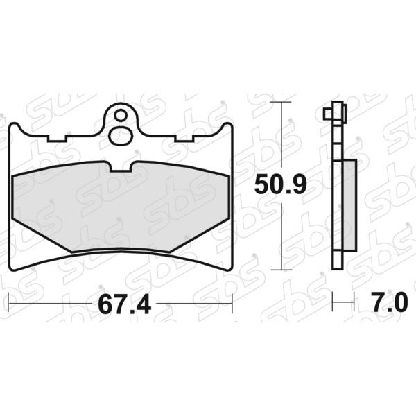 Plaquettes de frein 601 HF