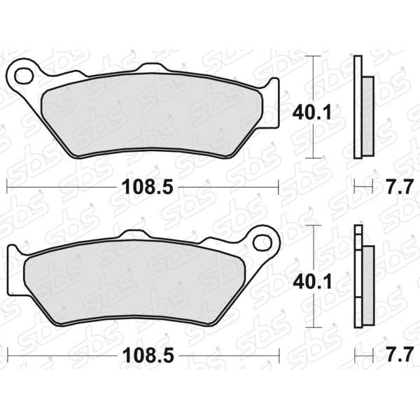 Plaquettes de frein 674 HF