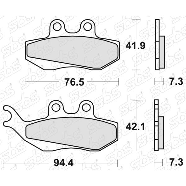 Plaquettes de frein 689 HF