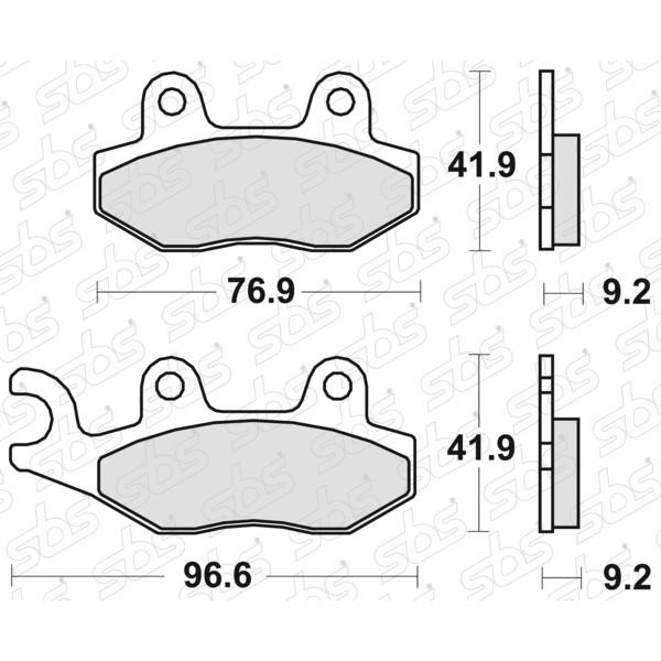 Plaquettes de frein 713 HF