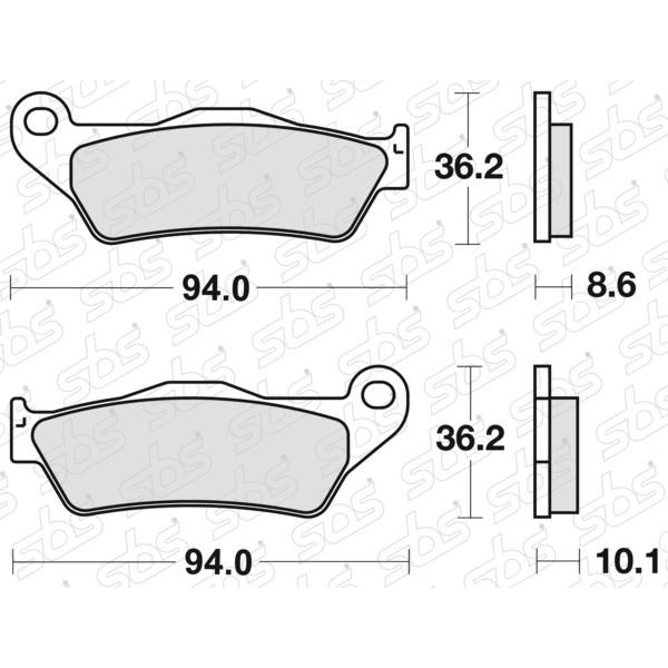 Plaquettes de frein 742 LS