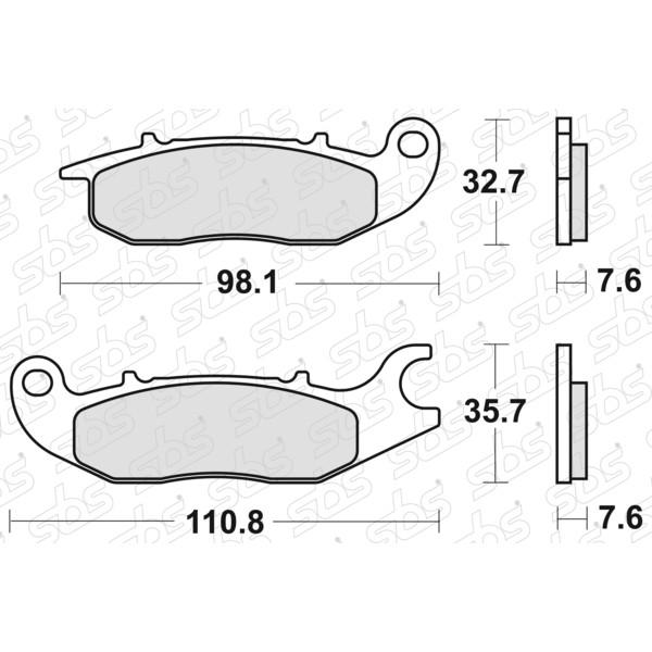 Plaquettes de frein 797 HF