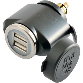 Adaptateur Mâle DIN Double USB - Full Power Tecno Globe