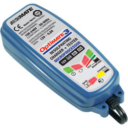Chargeur de batteries moto Optimate 3 TecMate