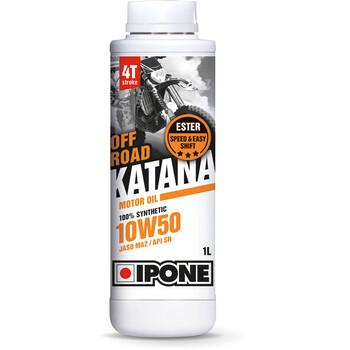 Huile moteur Katana Off Road 10W50 - moto 4 temps Ipone