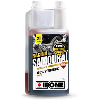Huile moteur Samouraï Racing 1L fraise - moto 2 temps Ipone
