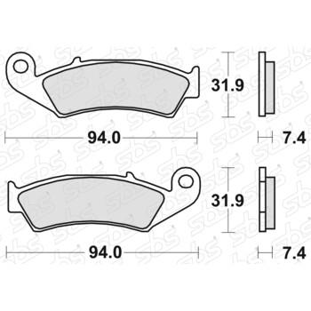 Plaquettes de frein 603 SI SBS