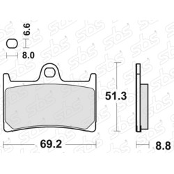 Plaquettes de frein 634 RS SBS