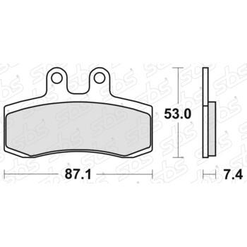 Plaquettes de frein 681 HF SBS