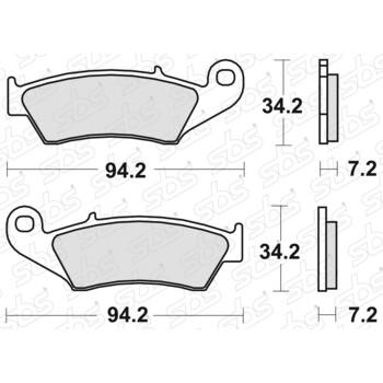 Plaquettes de frein 694 HF SBS