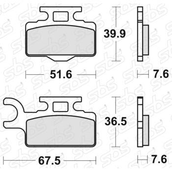 Plaquettes de frein 752 SI SBS