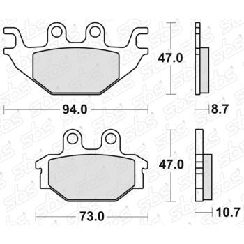 Plaquettes de frein 810 HF SBS