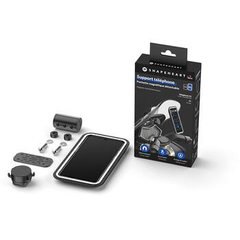 Support smartphone magnétique pour tableau de bord scooter Shapeheart